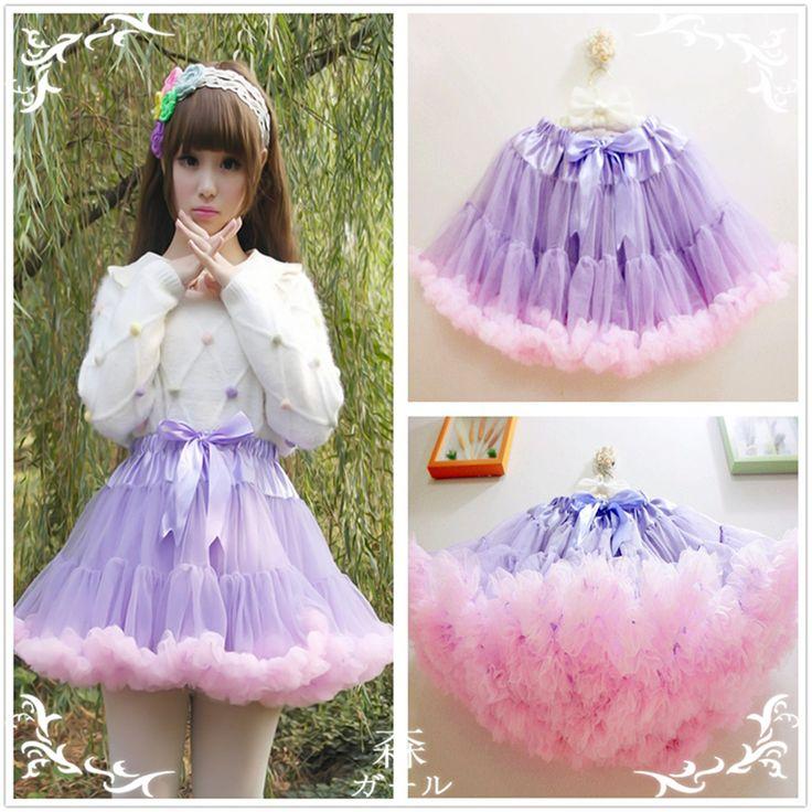 Cute japanese sweet colorful lolita pink tutu skirts