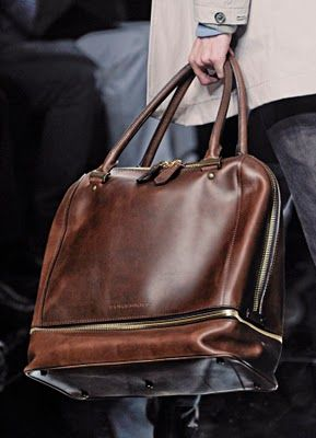 Glorious designer man bag! Brown leather travel bag / carryon / carryall / holdall / weekender / duffel bag / overnight bag / designer leather luggage