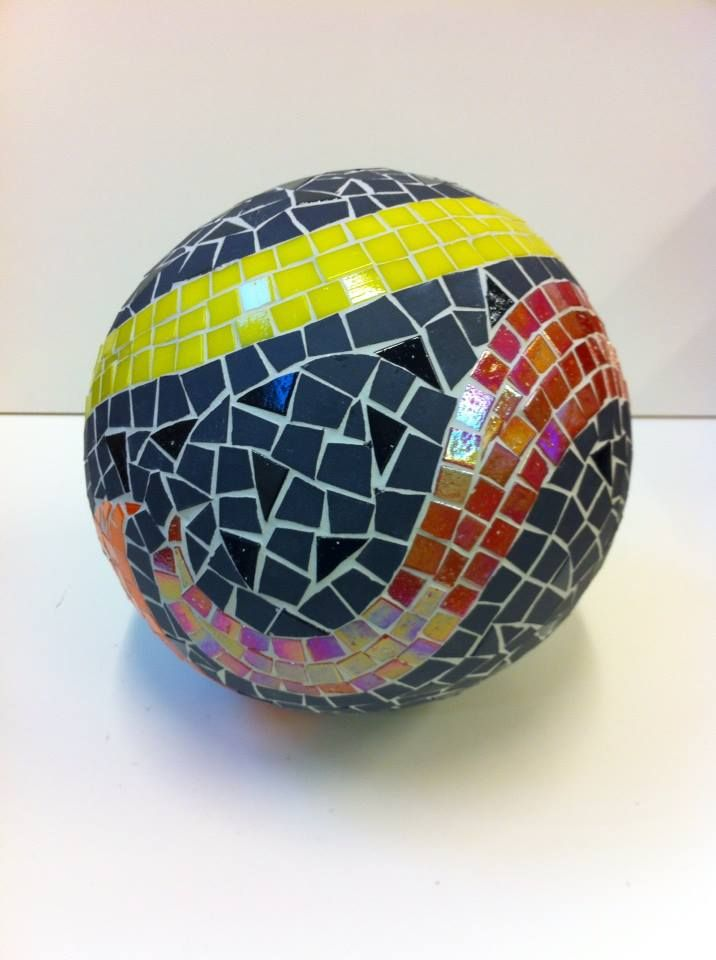 One of my larger mosaic balls.