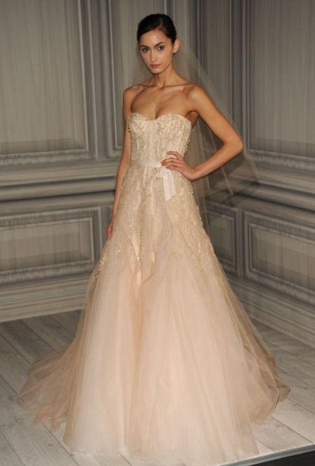 Blush Monique Lhuillier Bridal Gown - Google Search
