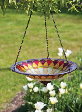 Hanging Bird Bath | Unique Birdhouse Boutique                                                                                                                                                                                 More