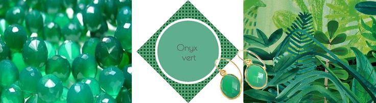 Onyx vert, une pierre d'une couleur envoûtante.