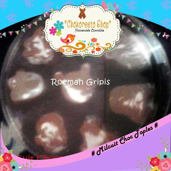Milcuit Toples (Coklat Susu + vanilla yang berisi remahan biskuit)