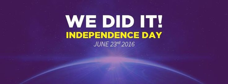 June 23rd 2016 is the day that will go down in history when the UK voted to leave the anti-democratic EU and choose independence!