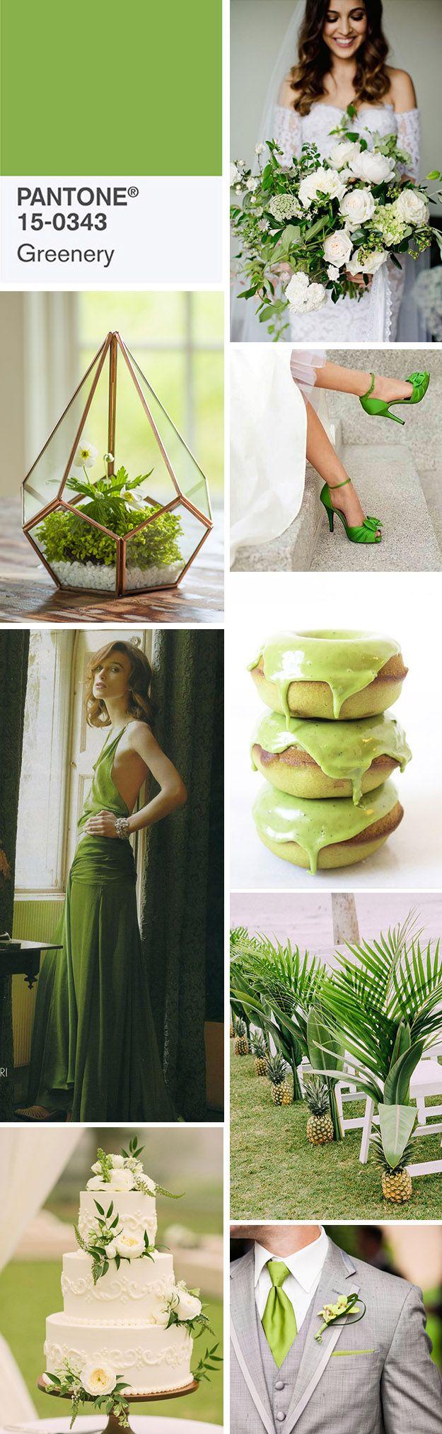 Greenery Wedding // Greenery Pantone color of the year 2017 // Green Greenery Wedding //  Mariage vert greenery //