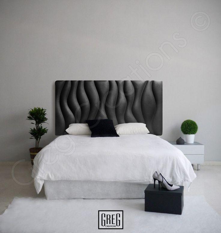 diseo de un dormitorio con el cabecero tapizado en polipiel de la serie simple wave en