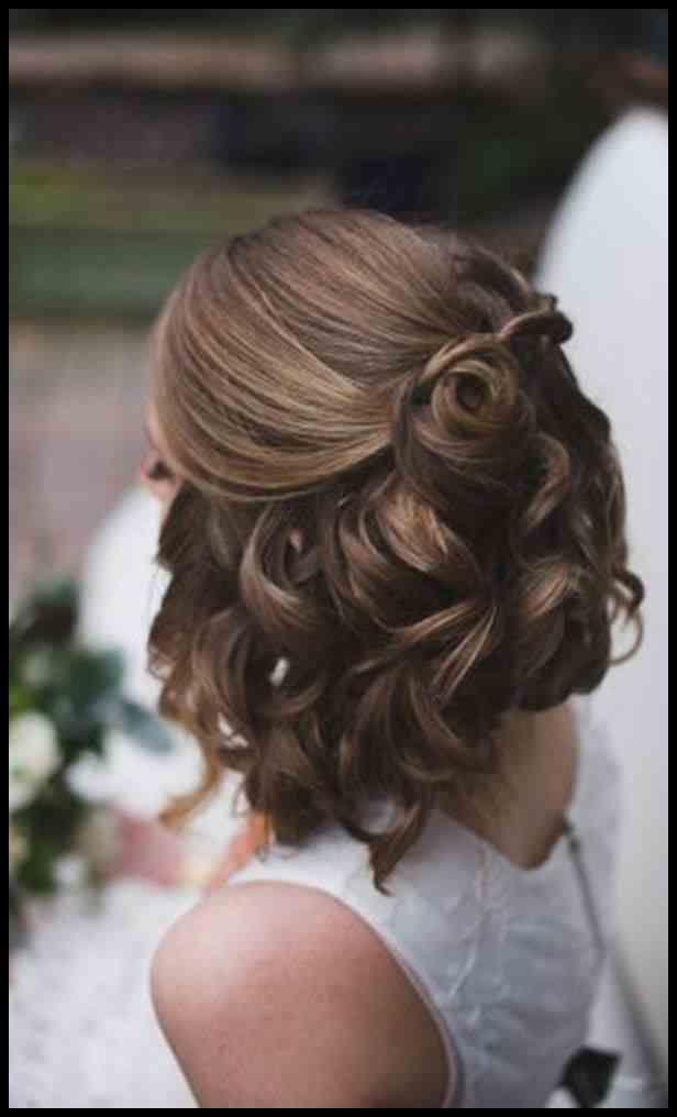 Trendy modische neue Hochzeit Frisur für kurze Haare Bridals …
