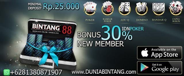 Bonus New Member 30 Idnpoker Bonus Deposit 10 Bintang88 Poker Bonus Bandar Poker