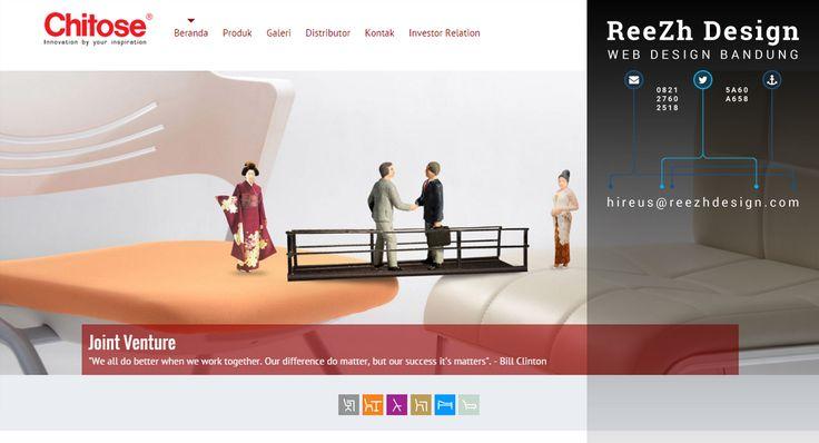 PT. Chitose Internasional Tbk - Portfolio Web Design
