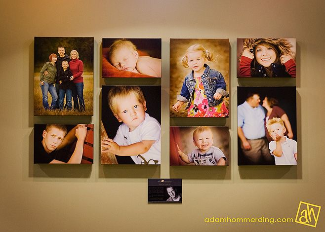 Chic Critique | Wall Gallery Inspiration | Canvas | Colorful | Family Pics