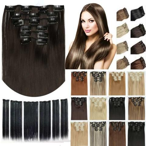 Synthetic Hair Extension with Clips - Elegance Gallery