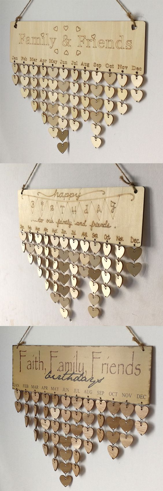 Family birthday and anniversary dates. A great gift for grandparents, parents, or a sibling.