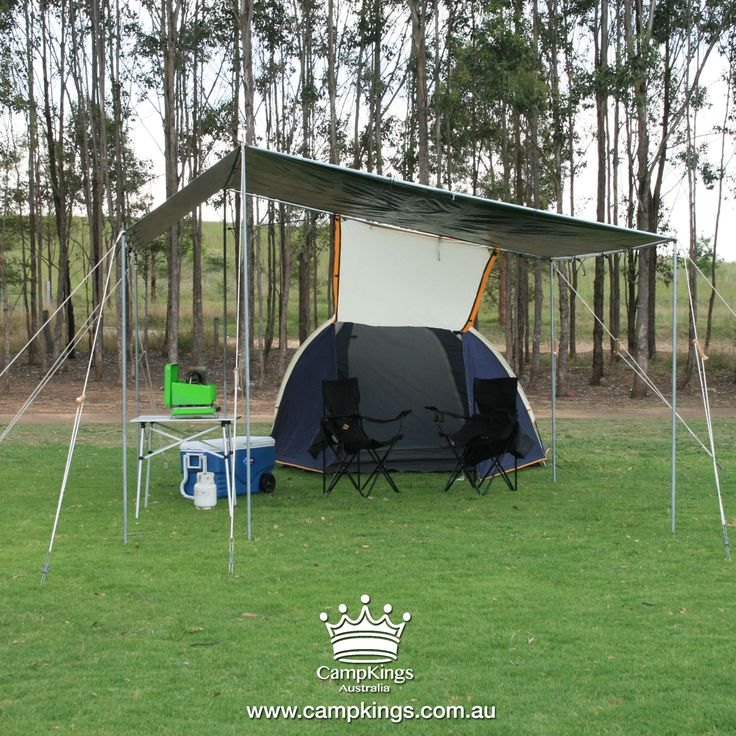 EZI KIT || CampKings || $349.00 EZI KIT is our small sized shelter solution designed for solo set up completely in under 25 minutes. Suitable for small campsites it is recommended for couples or small groups and is a great shelter solution at grassed events.