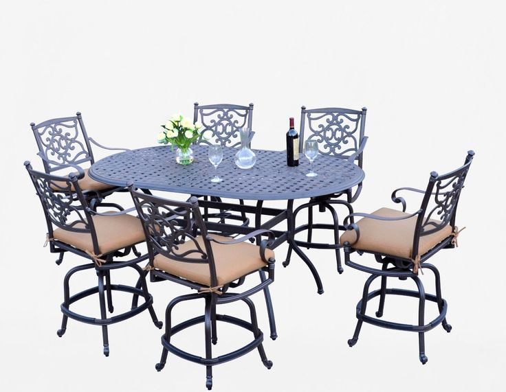 Amazon.com : Meadow Décor K7C6 W5448 Kingston 7 Piece Counter Height Patio  Dining Set, 72 Inch, Walnut : Patio Furniture : Patio, Lawn U0026 Garden |  Pinterest ...