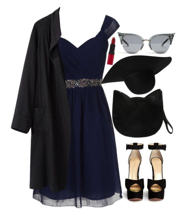 """""""Untitled #324"""" by hungry-unicorn ❤ liked on Polyvore featuring Little Mistress, Charlotte Olympia, Forever 21, Monki, Rimmel and La Garçonne Moderne"""
