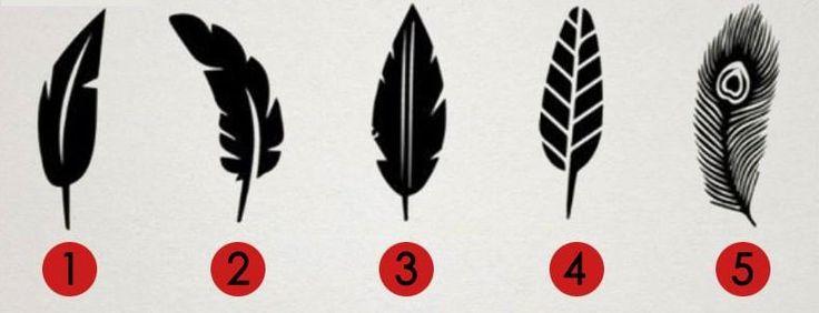 Zahleďte se na tento obrázek zobrazující 5 různých pírek a bez delšího přemýšlení odpovězte, které z nich Vás na první pohled zaujalo nejvíce. Následně si pod obrázkem přečtěte, co tento výběr prozrazuje o Vaší osobnosti. Pírko č. 1 Mír, klid a harmonie. Toto jsou 3 slova, která Vás naprosto přesně vystihují. Jste velmi vyrovnaným a …
