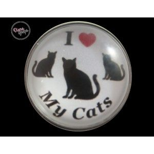 "I love my cats! (this would be for ""mom"" or ""dad"" to wear on their own bracelet, pendant or accessory!) Visit: http://www.dianasnaps.com/partner/LauraG"