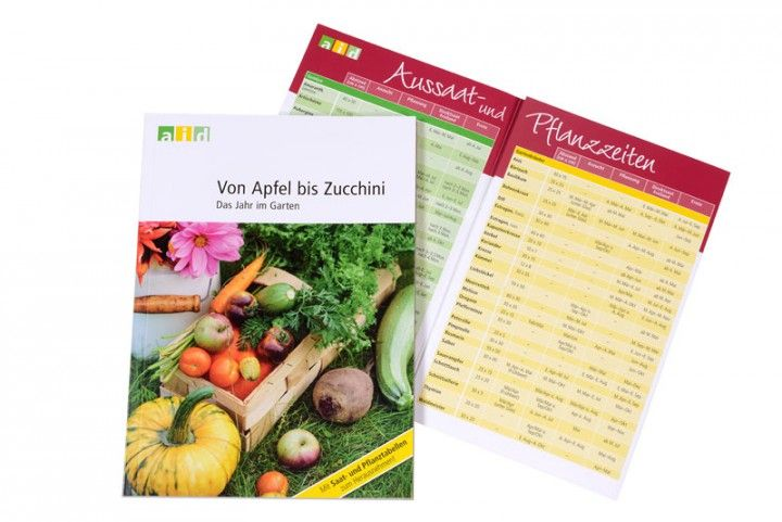 Von Apfel bis Zucchini - Das Jahr im Garten; Wer Obst und Gemüse aus dem eigenen Garten ernten will, braucht das richtige Timing. In dieser Broschüre erfahren Hobbygärtner Monat für Monat, welche Aufgaben zu erledigen sind und was jetzt gesät oder gepflanzt werden kann. Wird der Salat zu früh gesät, bildet er keinen Kopf mehr aus, sind die Tomaten zu spät dran, werden sie nicht mehr reif. Und neben dem richtigen Zeitpunkt sind noch etliche weitere Vorlieben und Besonderheiten der…