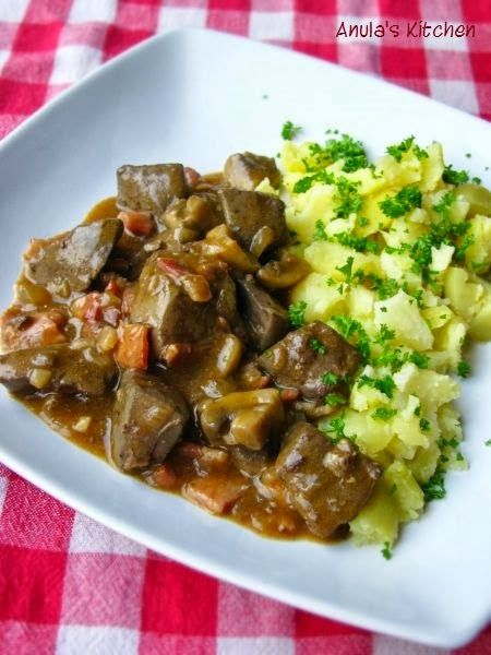 Liver and bacon casserole...