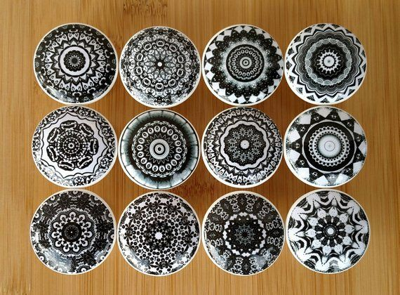 Pin On Bedroom, Hand Painted Wood Cabinet Knobs