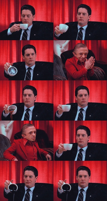 David Lynch | Twin Peaks                                            Man from another Place: Wow Bob Wow! Fire walk with me! BOOM!