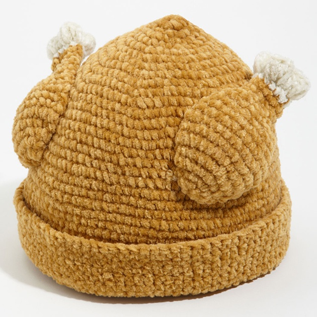 The turkey hat for cold days - Don't go cold turkey, stuff your head into this and live like a king!!