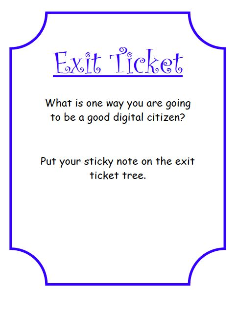 410 best Tech Lesson Ideas images on Pinterest Technology - Exit Ticket Template