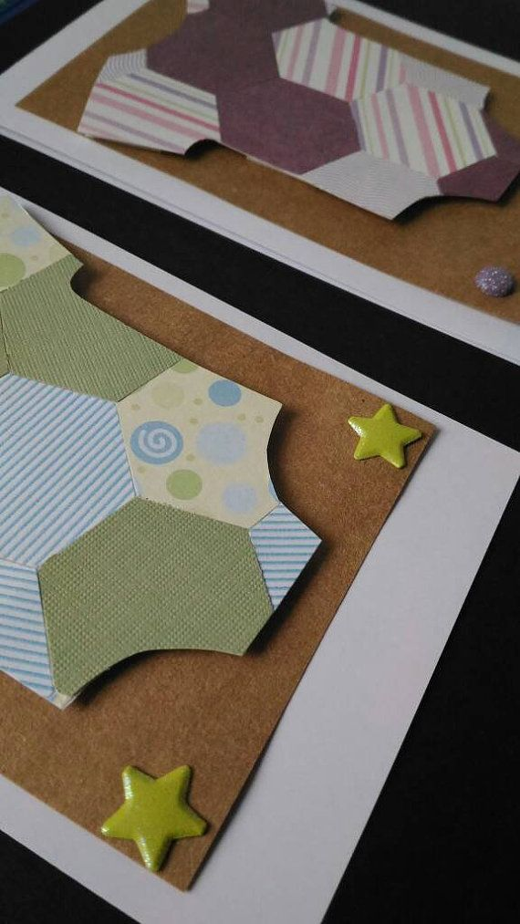 GEOMETRIC BABY BODY SUIT: cards to say congratulations and share the excitement of a baby entering the world. These geometrically-inspired cards are