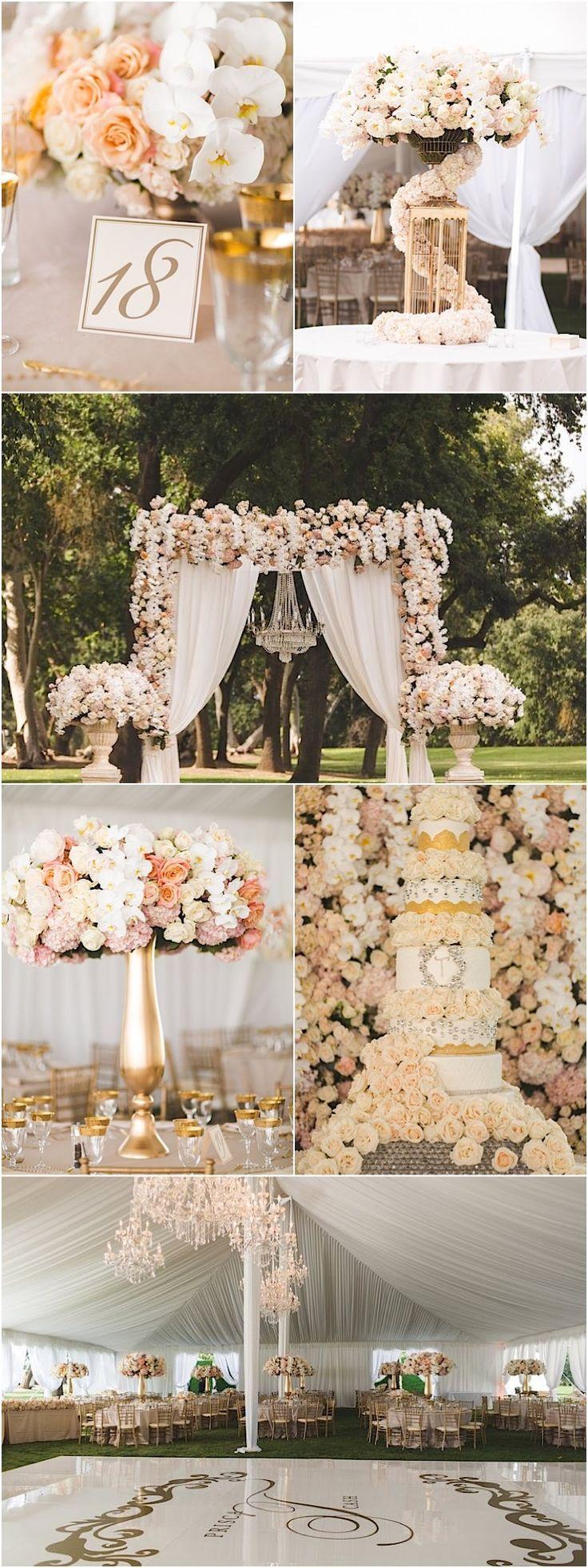 photographer: Reverie VP; Glamorous wedding reception idea;