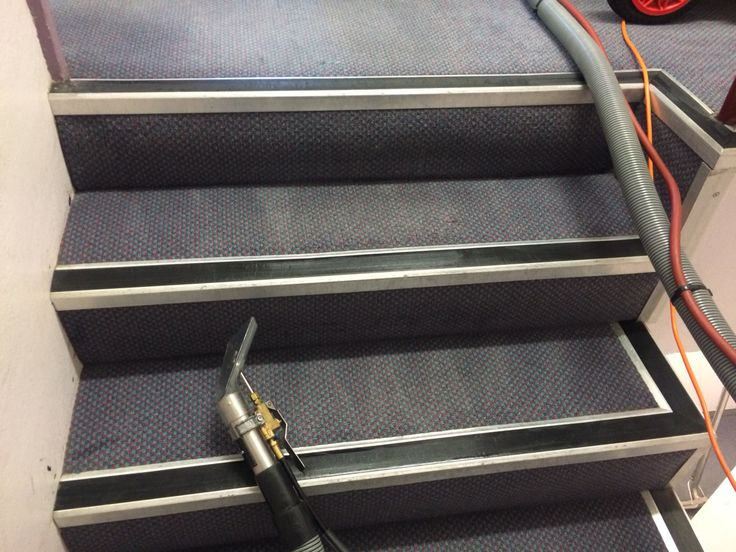 Stairs with carpet cleaning for commercial properties...