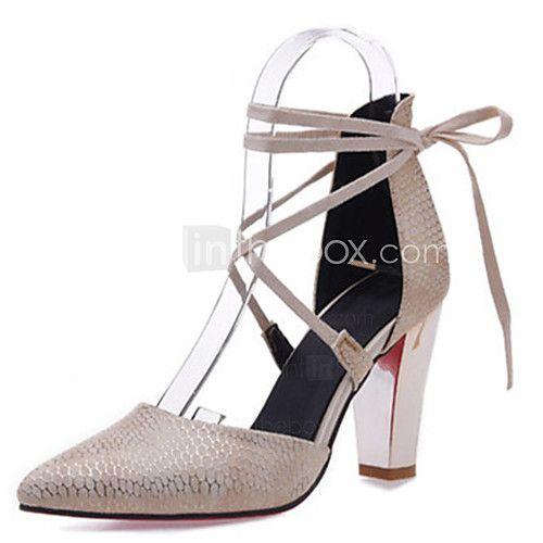 Mujer-Tacón Robusto-Innovador D'Orsay y Dos Piezas Zapatos del club-Tacones-Boda Vestido Fiesta y Noche-Materiales Personalizados 2017 - €29.39