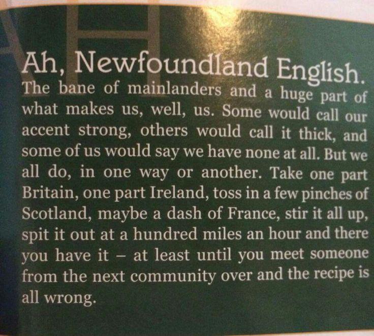 Newfoundland English #newfie