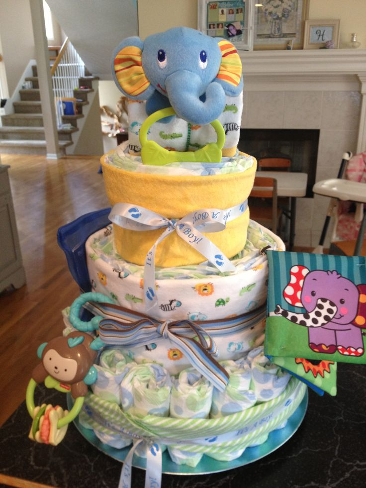 17 best images about baby shower ideas on pinterest for Baby diaper decoration ideas
