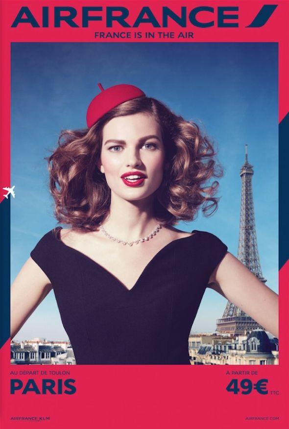 France is in the Air par Air France : Nouvelle Campagne des plus Retro