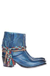 Blauwe Sendra boots 11084 enkelaarsjes