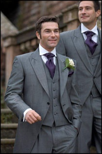 Grey 3 Piece Wedding Suit from The Wedding Hire Company of Oadby.