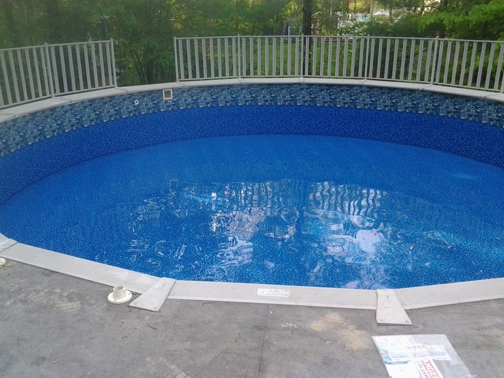 Fieldstone Liner Replacement In Rockland Ma June 2014 Our Above Ground Pool Pictures
