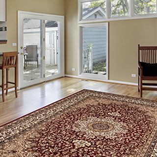 Ardebil Traditional Burgundy Rug (5'3 x 7'4) | Overstock.com Shopping - Great Deals on 5x8 - 6x9 Rugs