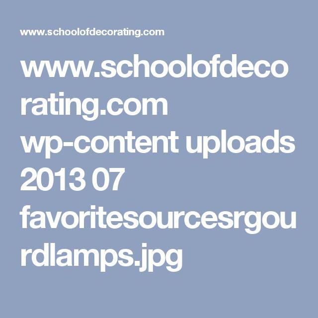 www.schoolofdecorating.com wp-content uploads 2013 07 favoritesourcesrgourdlamps.jpg