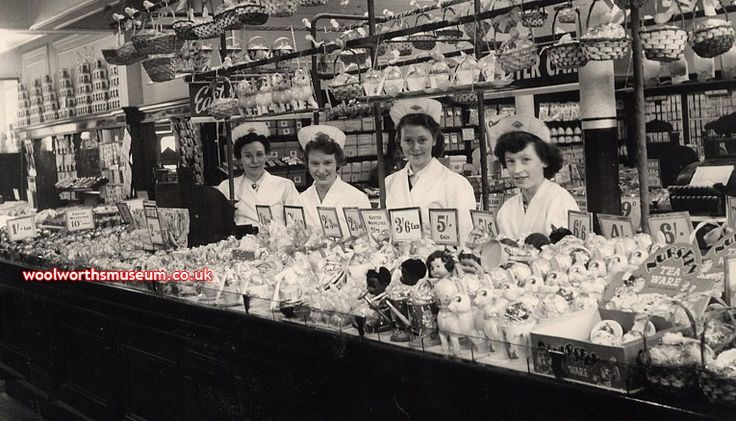 Toys at Woolworths in the 1950s - what our grandparents used to buy. MY MUM AND AUNTIES WORKED HERE THEN