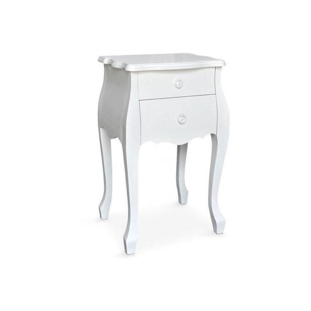 Table de chevet Laqué Blanc Zadig