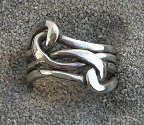 Anillo de plata anillo de nudo nudo de amor anillo por LjBjewelry