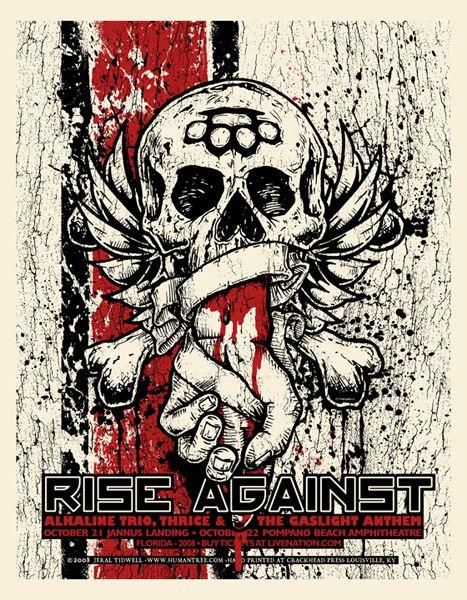 GigPosters.com - Rise Against - Alkaline Trio - Thrice - Gaslight Anthem, The