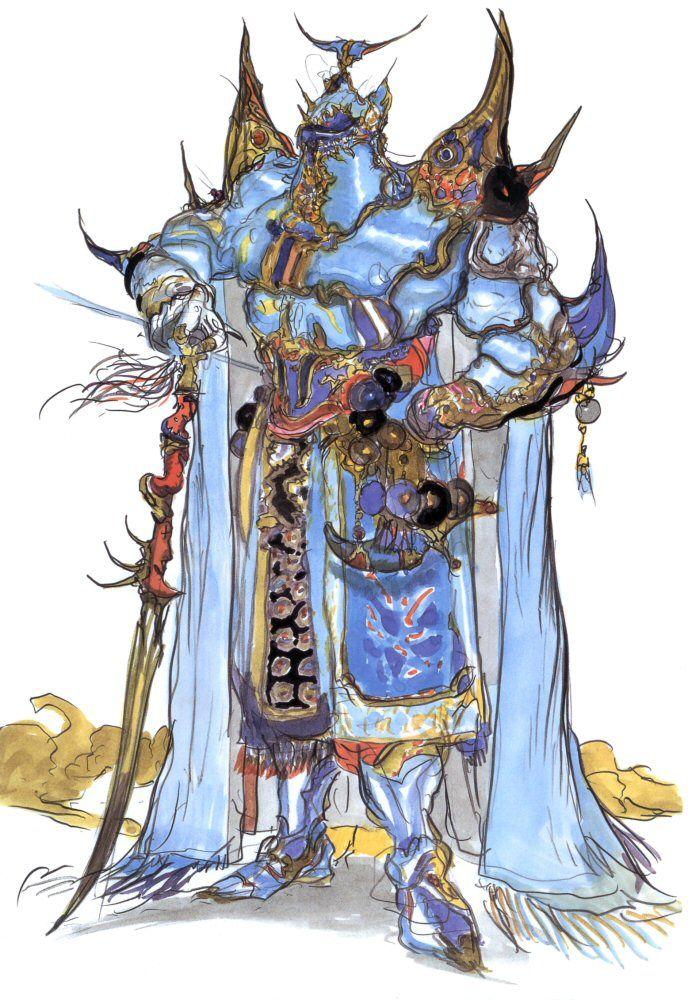 final fantasy v exdeath by yoshitaka amano ffv now we fight