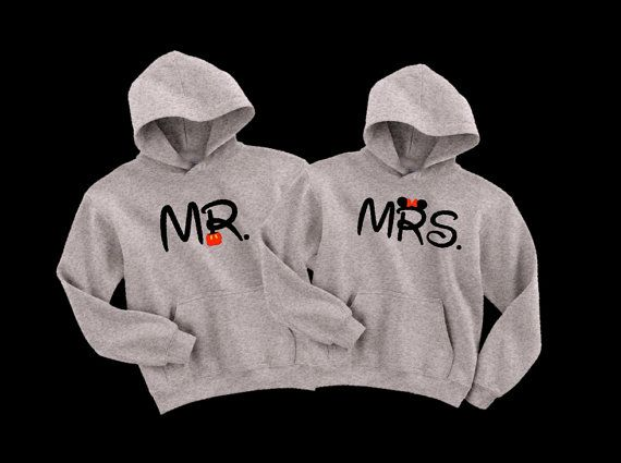 Hey, I found this really awesome Etsy listing at https://www.etsy.com/listing/173844460/disney-mr-and-mrs-mickeyminnie-pullover