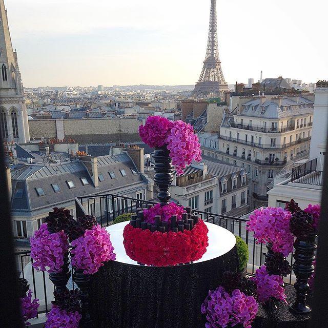 Team Leatham's flower magic in Paris.