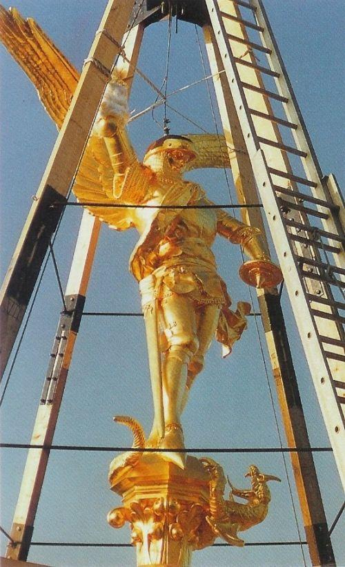 Archange Saint-Michel  Mont Saint-Michel (Basse-Normandie) -     Cuivre battu et doré (Architecte en Chef des Monuments Historiques Lablaude)