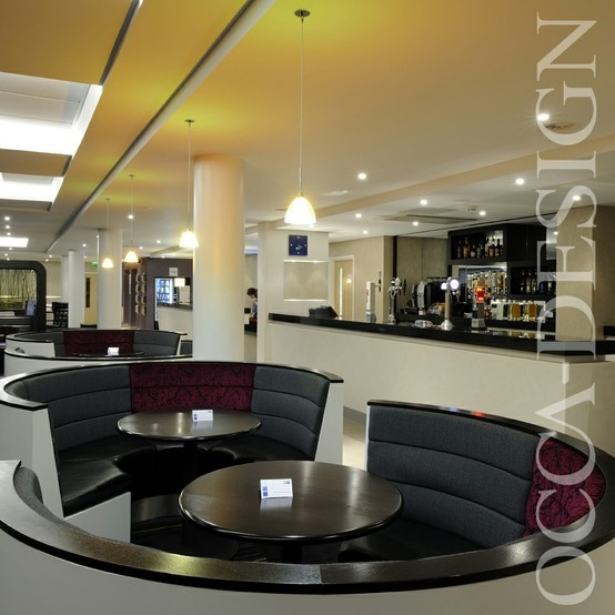Hotel Interior Design Bar Curved Fixed Seating Holiday Inn Express