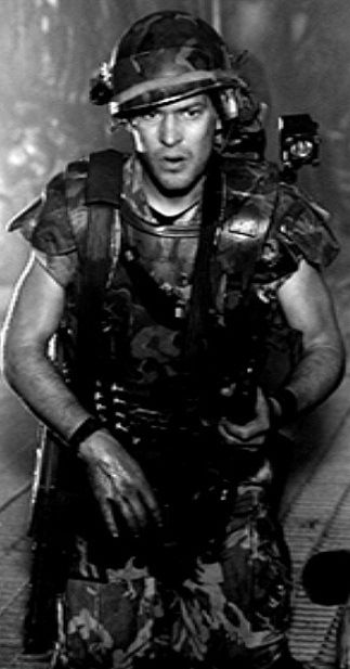 Rare photo of James Remar as Cpl. Hicks from ALIENS.