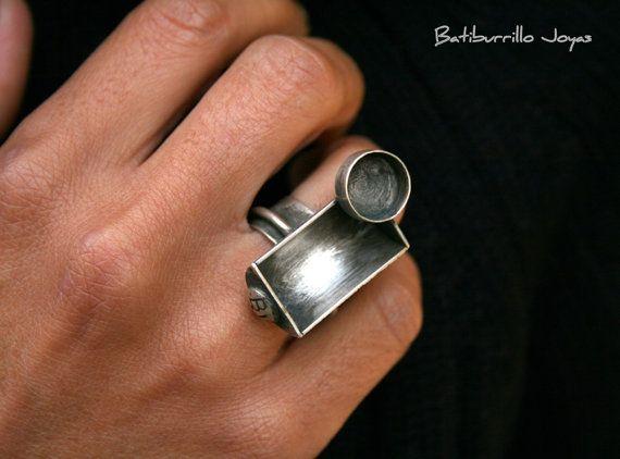 Anillo Escultura escultura Zen anillo grande anillo